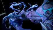 Serpent Karai Being Strangled By Super Shredder