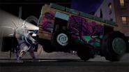 Super Shredder Lifting Up The Shellraiser