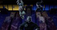 Leonardo And Karai Jump At Tatsu