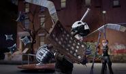 April Stops Ninja Stars From Hitting Casey