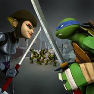 Leonardo Versus Karai