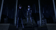 Shinigami And Serpent Karai Standing Up Straight