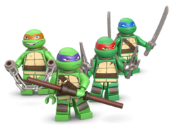 TMNT-Turtle Minifigs