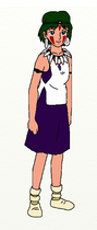 San (Princess Mononoke) (Obsidian Crystal Dagger Necklace)
