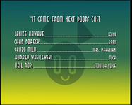 It Came From Next Door-credits