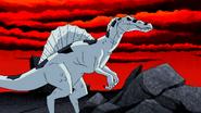 Nega Beast Boy as Spinosaurus