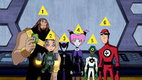 The six members of the H.I.V.E. Five