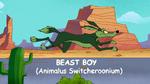 Beast Boy as Wile E. Coyote