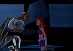 Starfire and Future Cyborg