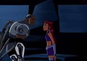 Starfire and Future Cyborg