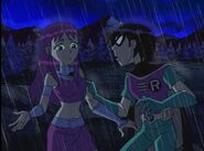 Teen Titans Robin is being mad at Starfire