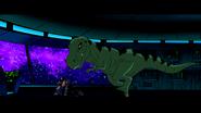 Beast Boy as T-rex