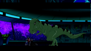 Beast Boy as T-rex