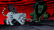 Nega Beast Boy as Tiger