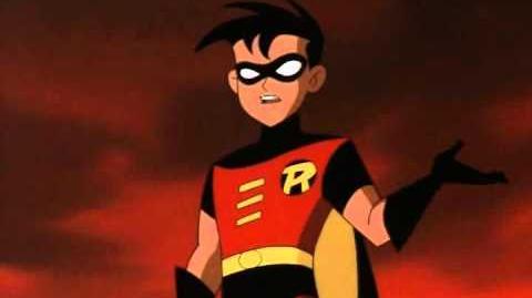 Robin takes down batman