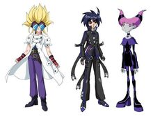 "06 - Crossover- Masquerade and Human Hydranoid from ""Bakugan"" + Jinx from ""Teen Titans"""