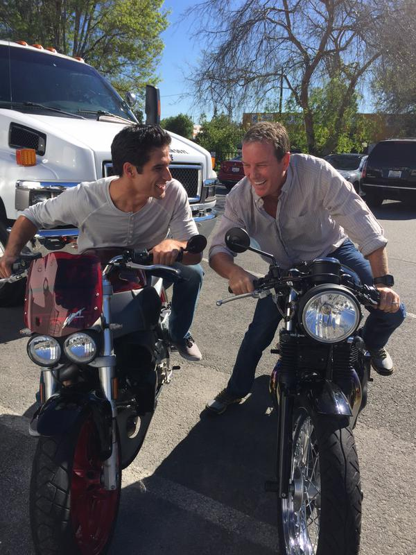Teen Wolf Season 5 Behind the Scenes Tyler Posey Linden Ashby motorcycles 2 021015