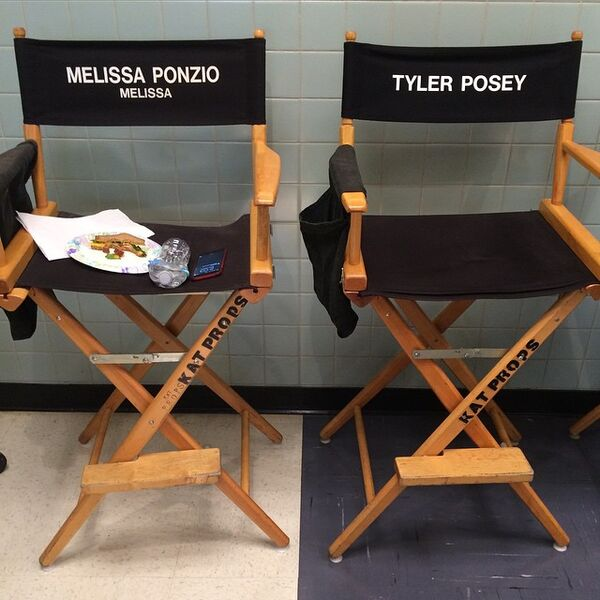 Teen Wolf Season 5 Behind the Scenes Posey and Ponzio's chairs 020915