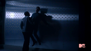 Teen Wolf Season 3 Episode 2 Bank Vault Sinqua Walls Tyler Posey Scott McCall and Boyd fight
