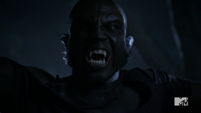 Teen Wolf Season 3 Episode 3 Fireflies Sinqua Walls Vernon Boyd werewolf face