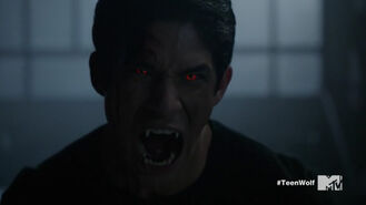 Teen Wolf Season 5 Episode 18 Maid of Gevaudan Scott's alpha eyes