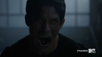 Teen Wolf Season 5 Episode 18 Maid of Gevaudan Scott's alpha eyes
