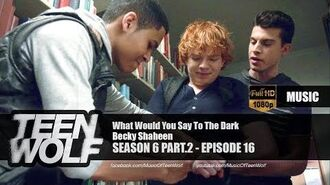 Becky Shaheen - What Would You Say To The Dark Teen Wolf 6x16 Music HD