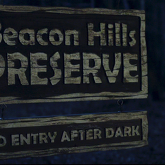 Teen Wolf Season 1 Episode 1 Beacon Hills Preserve sign