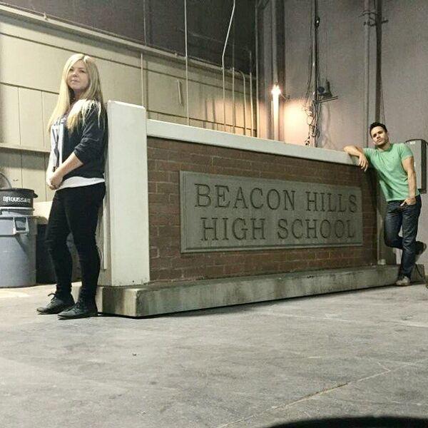 Teen Wolf Season 5 Behind the Scenes Megan and Daniel Wardrobe Dept 012715