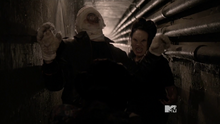 Teen Wolf Season 3 Episode 21 Fox and Wolf Satomi attacks Nogitsune