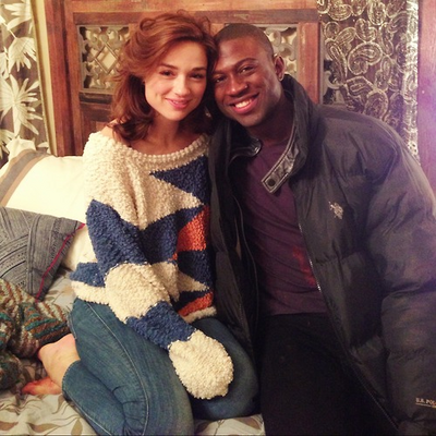 Teen Wolf Behind the Scenes Crystal Reed and Sinqua Walls