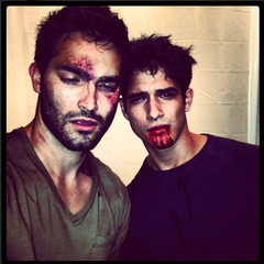 Teen Wolf Behind the Scenes Hochlin and Posey Beat to Hell