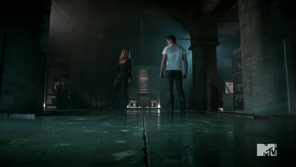 Teen Wolf Season 4 Episode 2 117 Peter and Kate in the vault