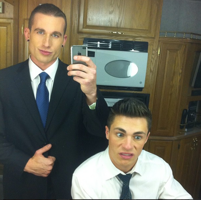 Teen Wolf Behind the Scenes Damon Jackson Colton Haynes