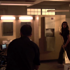 Teen Wolf Behind the Scenes Megan Tandy Locker Room Set Northridge Sound Stage