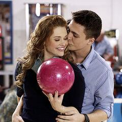 Lydia et Jackson au bowling .