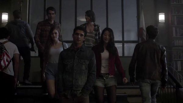 Teen Wolf News Core Cast in the library