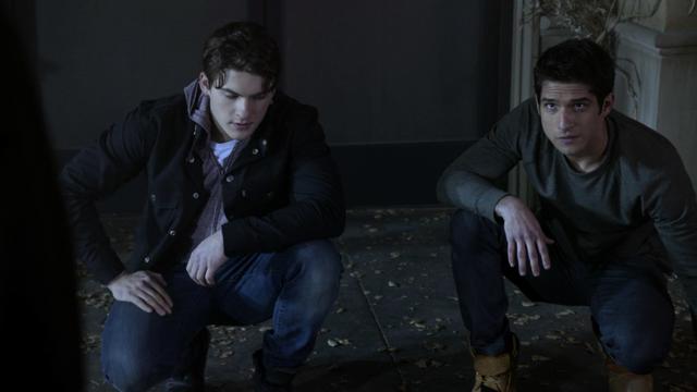 File:Cody-Christian-Tyler-Posey-Theo-Scott-kneeling-Teen-Wolf-Season-6-Episode-15-Pressure-Test.png