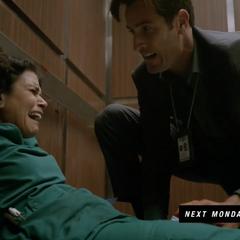 Mélissa blessée dans l'ascenseur