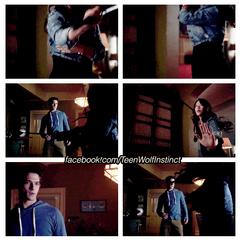 Kira montrant à Scott son talent à magner une épée!