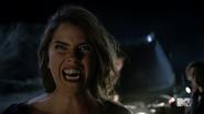 Teen Wolf Season 4 Episode 401 The Dark Moon Malia bares fang