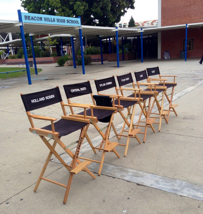 Teen Wolf Behind the Scenes Cast Chairs School