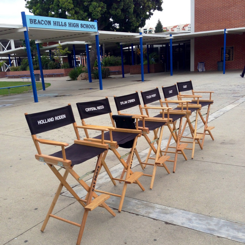 Teen Wolf Behind the Scenes Palisades Charter High School sign after