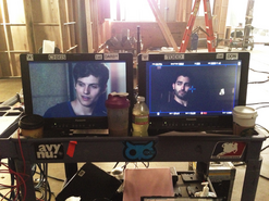 Teen Wolf Season 3 Behind the Scenes Daniel Sharman Tyler Hoechlin video monitors