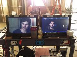 Teen Wolf Season 3 Behind the Scenes Daniel Sharman Tyler Hoechlin video monitors