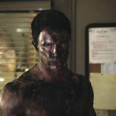 Parrish als er nach dem versuchten Mord an ihm im <a href=