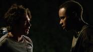 Dylan-Sprayberry-Khylin-Rhambo-Liam-Mason-hunted-Teen-Wolf-Season-6-Episode-14-Face-to-Faceless