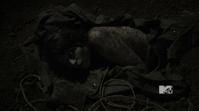 Laura Hale's corpse after wolfsbane is removed