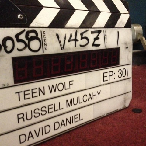 Teen Wolf Behind the Scenes Season 3 Episode 1 Slate