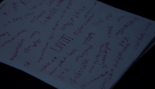 Lydia's-Premonition-writing-Teen-Wolf-Season-6-Episode-13-After-Images